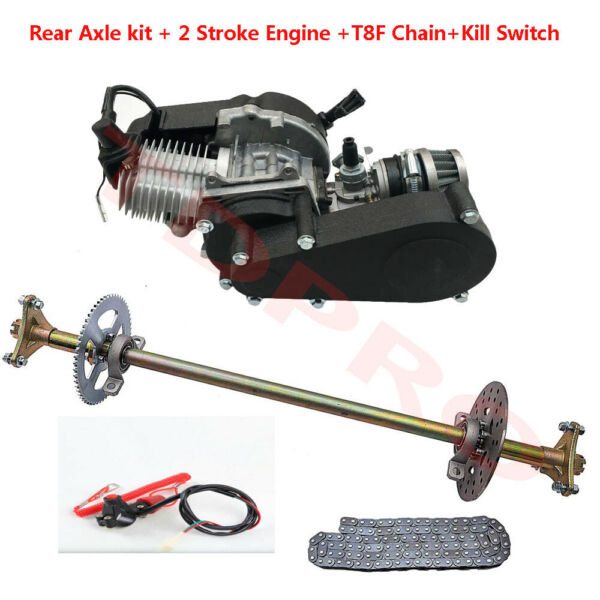 Go Kart Rear Live Axle Kit Chain 2 Stroke 49cc Engine Motor For Mini Bike $239.99