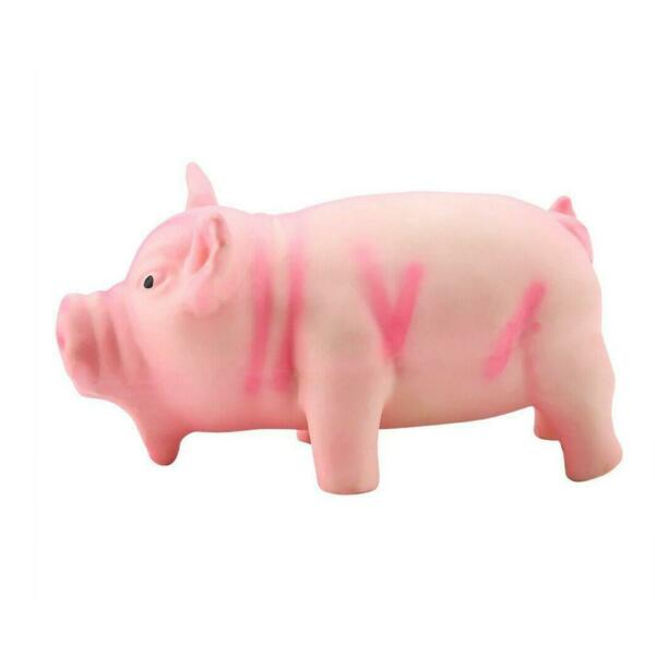 Pig Toy Grunting Squeaky Rubber Dog Pet Puppy Chew Squeaker Sound Funs S9Y9 $4.56
