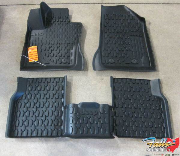 2017-2020 Jeep Compass Front & Rear Black All Weather Floor Mats New Mopar OEM