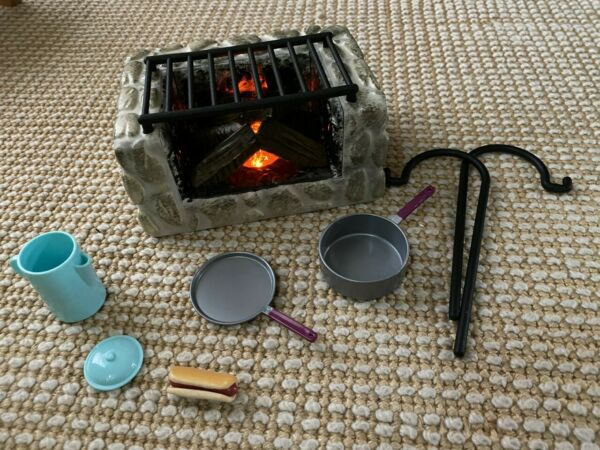 American Girl fire pit grill Maryellen's Campfire camping 18