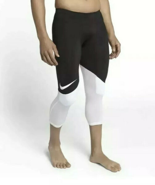 Nike Football Knee Padded Hip Knee 3 4 Compression Pants $70 Men's Size 2XL