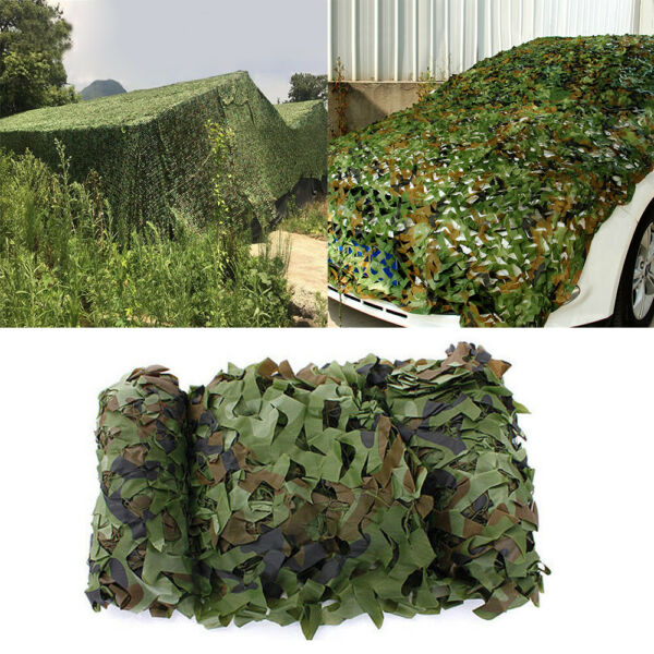 Camo Netting Woodland Army Green Net Military Camping Hunting Hide Shelter 2m 8m