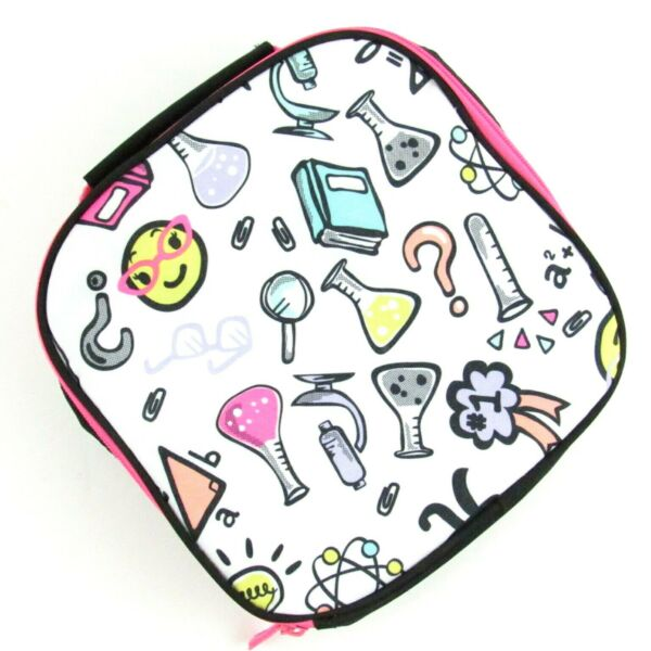 Chemistry Science Theme Insulated Lunchbox Lunch Pail Bag Multicolor Mesh Pouch