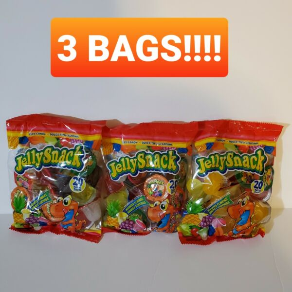 Jelly Bags - Famous Tik Tok TikTok Jelly Candy Snack - NEW 20 Piece Bag-3 Bags!