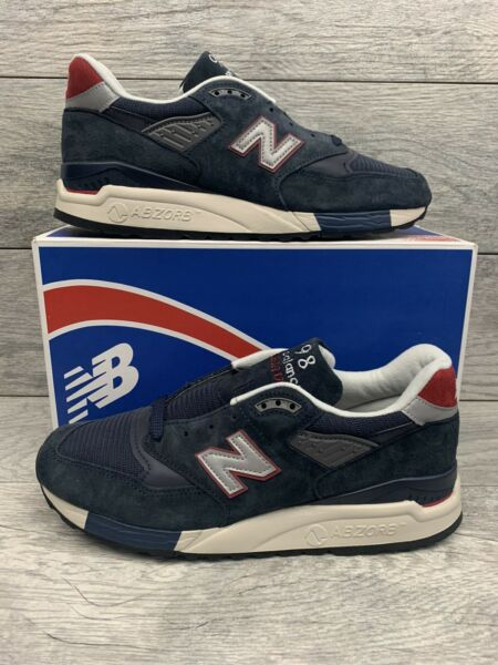 New Balance 998 J Crew Made In USA Mens Size 10.5 Navy Suede M998JC1
