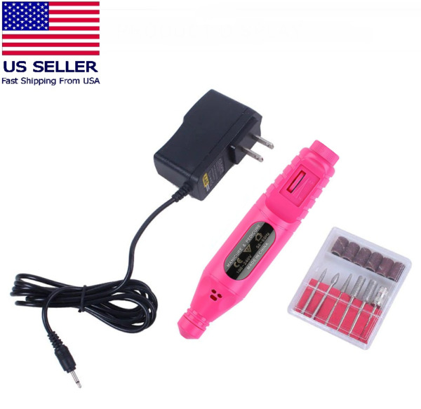 Electric Drill Nail File Acrylic Art File Manicure Pedicure Portable Machine Kit $9.95