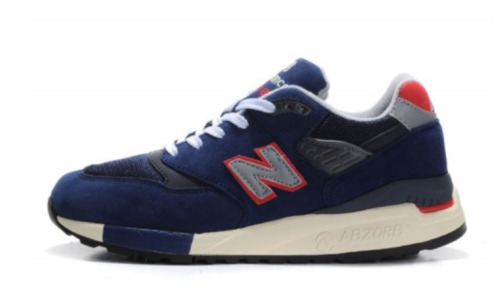 New Balance 998 M998JC1 J Crew X Navy Suede Sneakers Made In USA Men Size 10.5