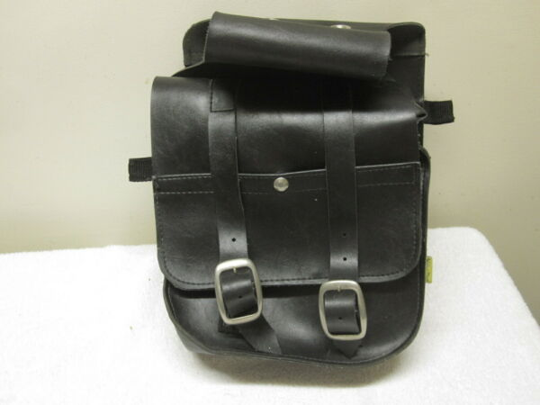 Vintage WILLIE & MAX Leatherette Saddlebags Motorcycle Side Tote Bags Made USA