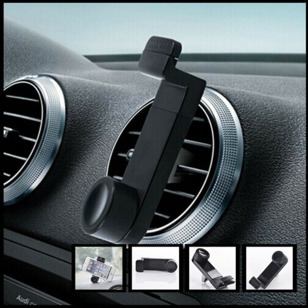 Car Air Vent Mount Black Rotate Retractable Stand Clip Holder Bracket $6.35