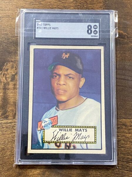 1952 Topps Willie Mays #261 SGC 8 NM-MT Beautifully Centered Vintage