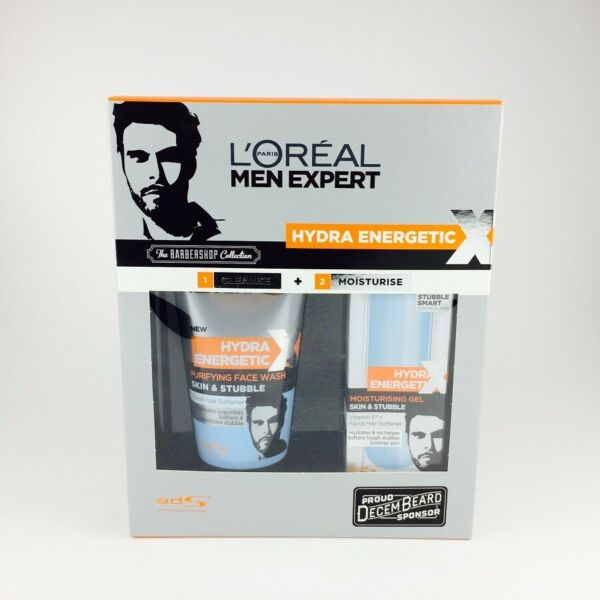 Loreal Men Expert Hydra Energetic Extreme Set Face Wash 150ml + Gel 50ml BNIB