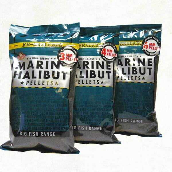 Dynamite Baits Marin Halibut Pellets Pre drilled Pellets Durable hookers *NEW GBP 7.99