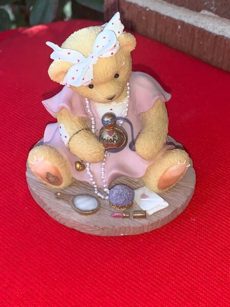 VINTAGE cherished Teddies AVA Tiffany & Co Bottle Perfume Avon Teddy Bear ❤️sj8j