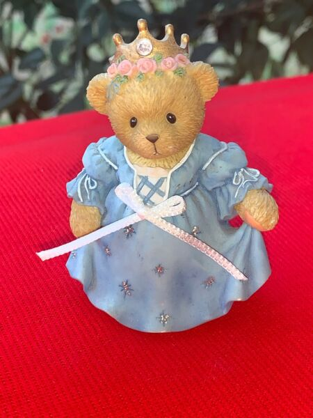 VINTAGE cherished Teddies CINDERELLA at BALL Avon Teddy Bear Figurine ❤️sj8j