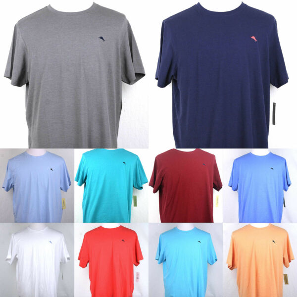 Tommy Bahama T shirt Crew neck short sleeve Navy Gray Red Teal Blue White Aqua $22.99