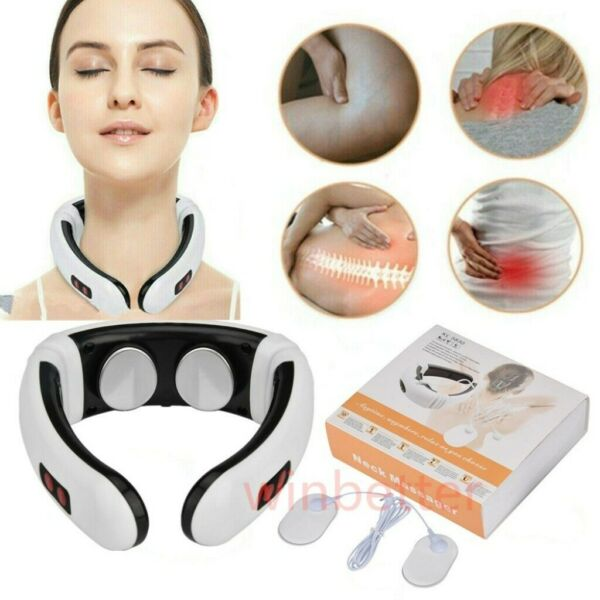 Electric Cervical Neck Massager Therapy Body Shoulder Muscle Relax Relieve Pain