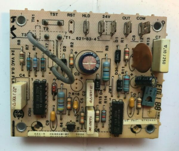 Rheem Heat Pump Defrost Control Board 621 9 621 83 4 used #V74 $17.90