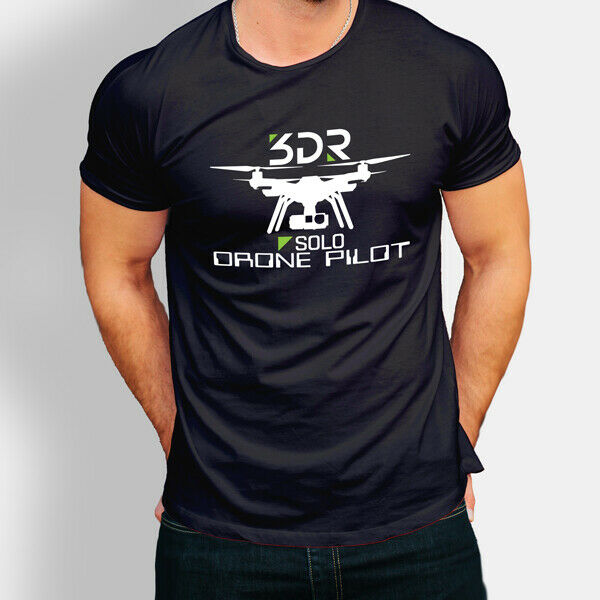 New 3DR Solo Drone Pilot Photography  Logo T-shirt S-3XL
