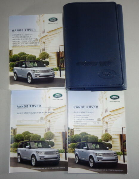 Document Kit + Manual Owner's Manual + Wallet Range Rover Stand 2015