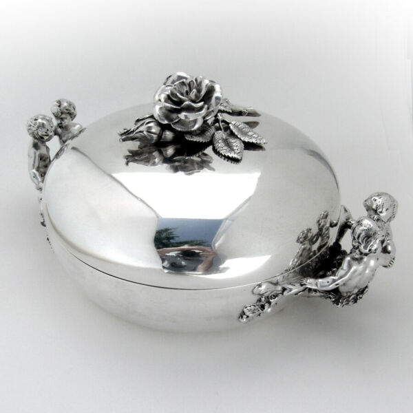 Louis Philippe I Figural Covered Serving Dish Veyrat 950 Sterling Silver