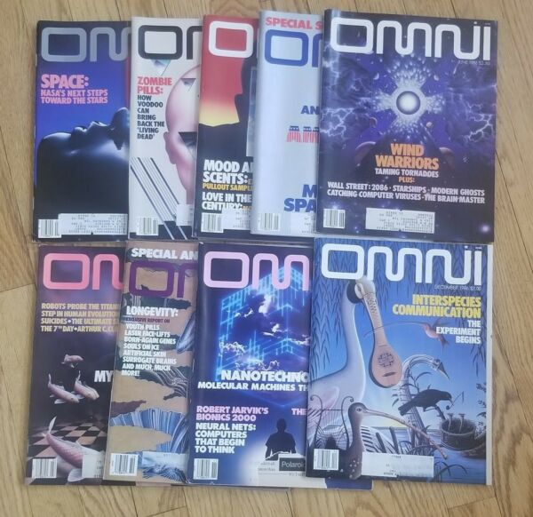 OMNI Magazine 1986 SET January December