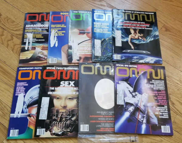 OMNI Magazine 1990 SET NEW January December