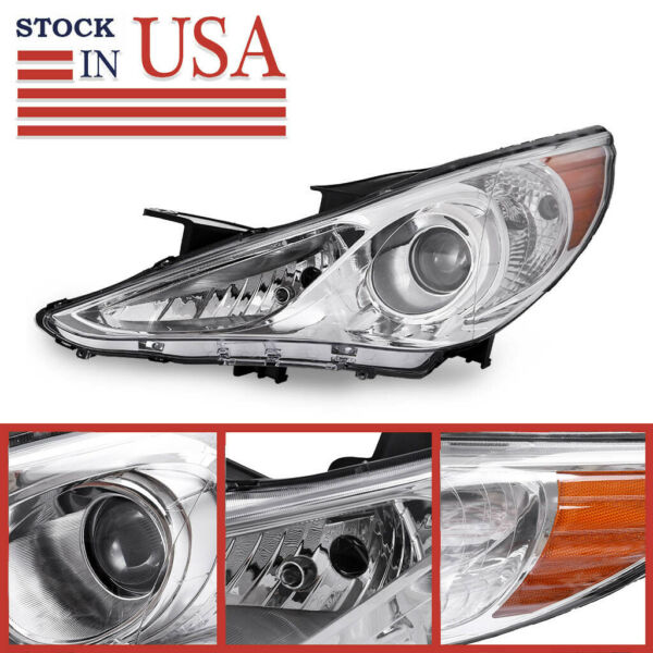 For 2002-2004 Toyota Camry Chrome Headlights Headlamps Assembly Replacement PAIR