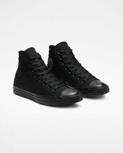 Converse Chuck Taylor All Star High Black Monochrome Unisex Shoes $60