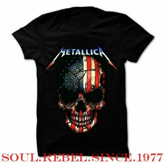 METALLICA USA FLAG HEAVY METAL PUNK ROCK MEN#x27;S SIZES T SHIRT $11.99
