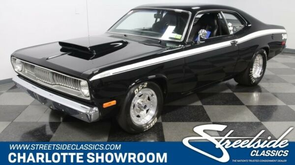 1972 Plymouth Duster Pro Street classic vintage chrome black vinyl seating Hoosier MSD Moser Eagle Moroso