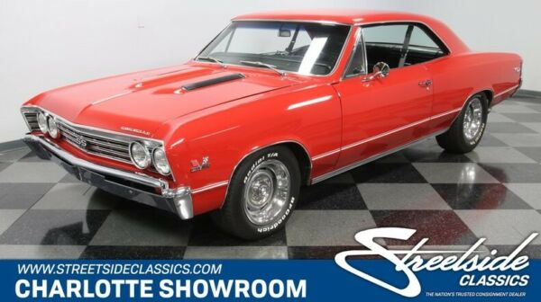 1967 Chevrolet Chevelle SS 396 classic vintage chrome Super Sport chevy bbc red black vinyl manual restoration