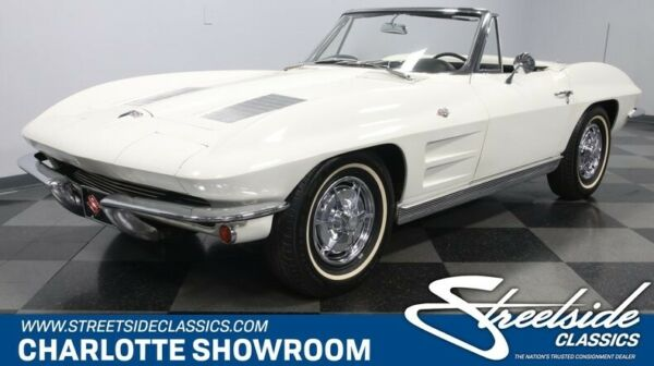 1963 Chevrolet Corvette Convertible classic vintage chrome c2 roadster hard top black vinyl interior chevy sbc