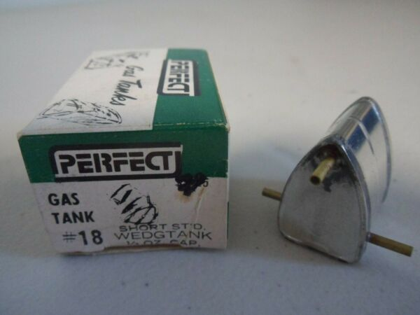 NOS Perfect #18 Short Standard 13 oz. Wedgtank CL Model Airplane Fuel Tank