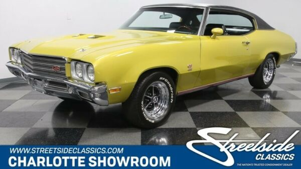 1971 Buick GS 455 classic vintage chrome restored big block Cortez Gold black vinyl interior