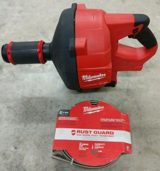 Milwaukee M18 Fuel Drain Snake  Drain Cleaner Model# 2772A-20