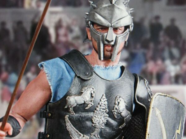 Custom built ooak 16 scale The Gladiator with none other then Russell Crowe