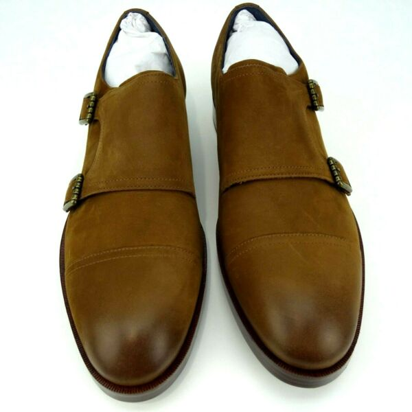 Cole Haan Men#x27;s Henry Grand Double Monk Brown Oxfords Shoes Men Size 9M New $79.99