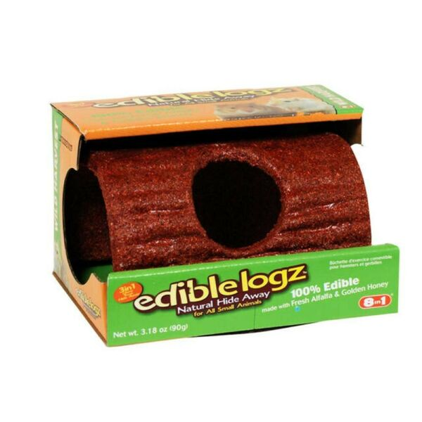ChewableLogz Hideout for small animals, Small,3.18 oz. 3 in 1 Edible,toy,Hideout