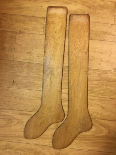 Pair of Antique vintage Jos. T. Pearson Philadelphia PA wooden sock stretchers