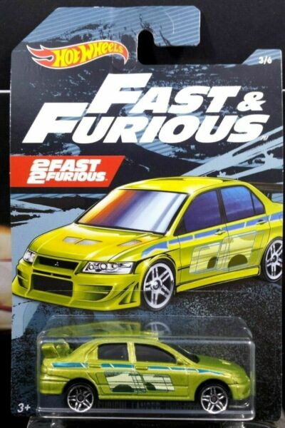 FAST & FURIOUS LANCER EVOLUTION RARE 164 SCALE DIORAMA DIECAST CAR COLLECTIBLE
