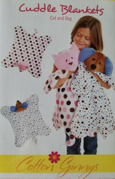 New Cotton Ginnys Cuddle Blankets Cat amp; Dog Pattern #BC161 Sewing Crafting $10.44
