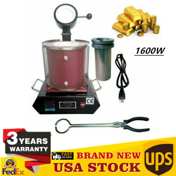 1600W Electric Melting Furnace Automatic Silver Gold Smelter Smelting PID 1150℃ $234.00