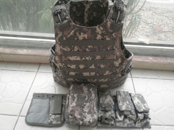 ACU Combat Tactical Soft Bullet proof vest IIIA NIJ0101.06 Size:M $285.00