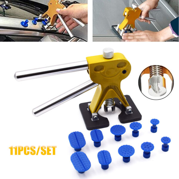 Paintless Car Repair Tool Set 11PCS Car Metal Dent Lifter Puller Tab Hail Remove