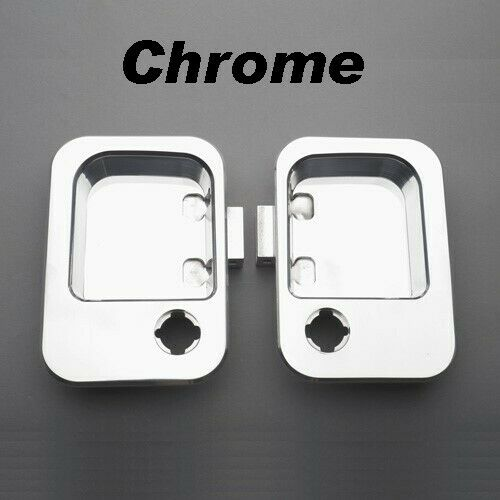 All Sales Chrome Aluminum Exterior Door Handle Buckets Kenworth Peterbilt Pair