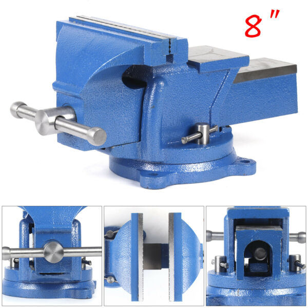 HEAVY DUTY 8quot; WORK BENCH VICE VISE WORKSHOP CLAMP ENGINEER JAW SWIVEL BASE TABLE