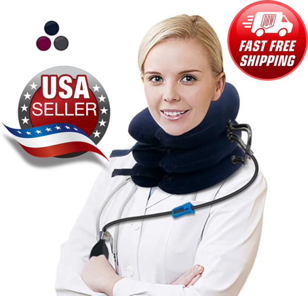 FDA Approved  Inflatable Cervical Neck Traction Pain Relief Therapy Brace