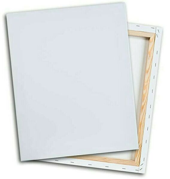 3pk 8quot;x10quot; White Cotton Stretched Art Canvases Canvas 5 8quot; Painting Acrylic Oil