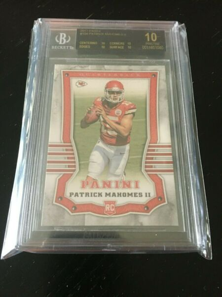 2017 Panini PATRICK MAHOMES #104 RC BGS BLACK LABEL 10 - ONLY ONE OF ITS KIND!!