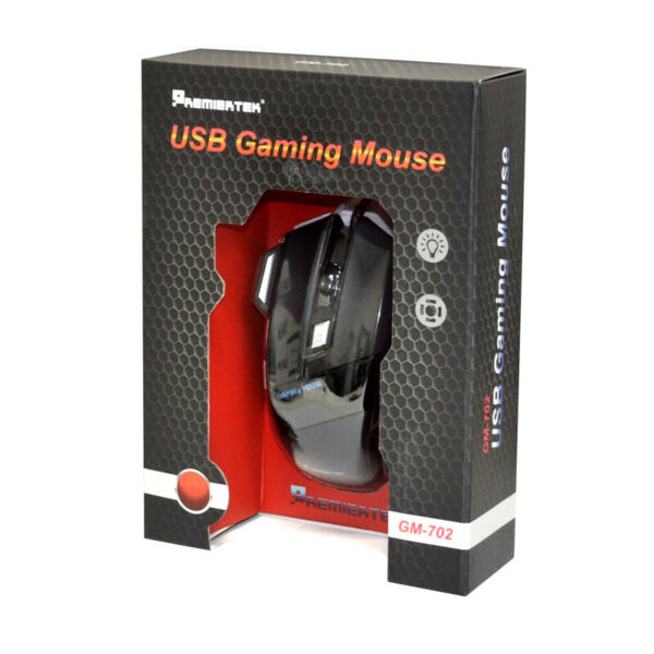 🔥Gaming Mouse 7 Button USB Wired LED Breathing Fire Button 3200 DPI Laptop PC🔥